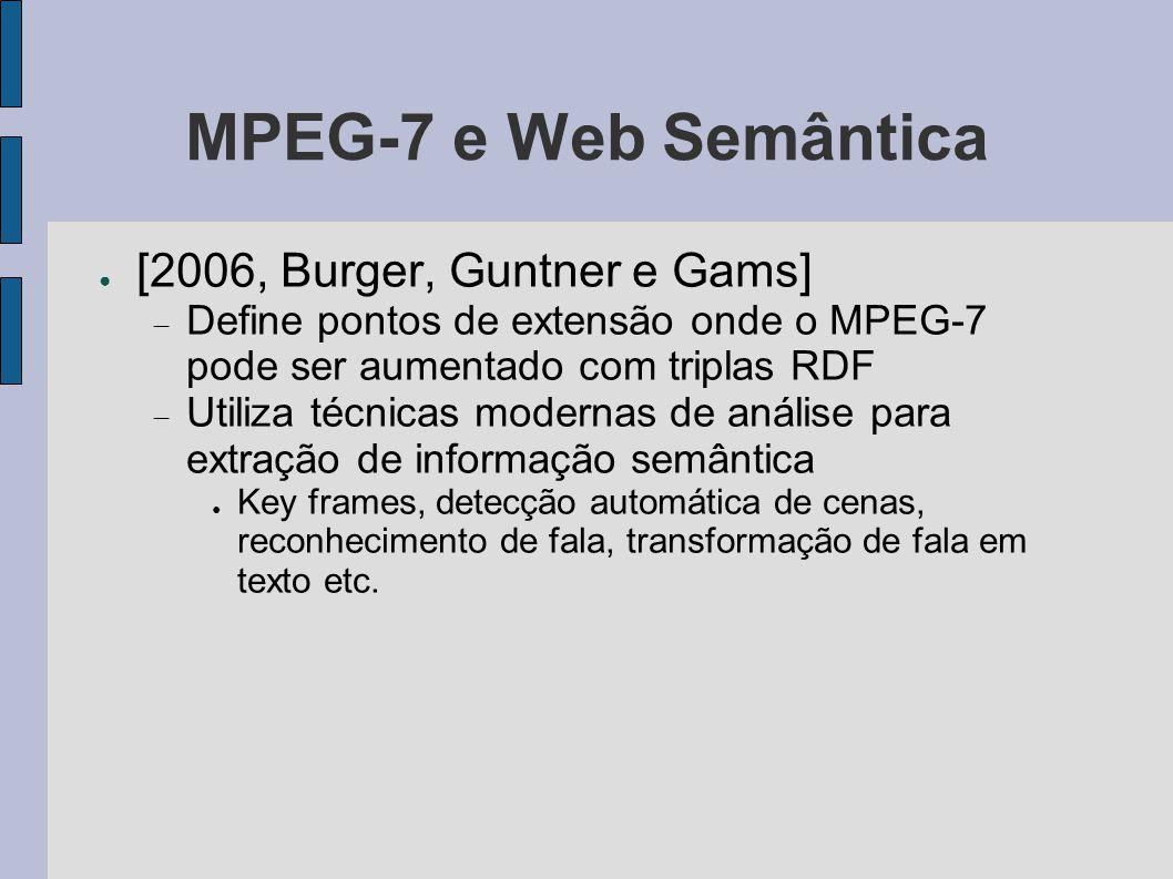 MPEG-7 e Web Semântica [2006, Burger, Guntner e Gams]